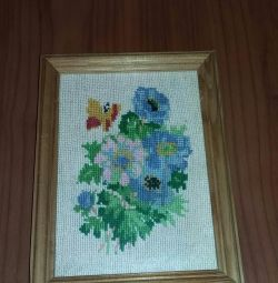 Handmade picture in a frame