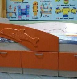Ліжко Дельфін помаранчевий