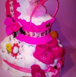 Diaper cakes.