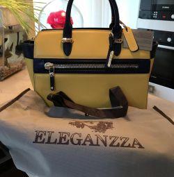 Δερμάτινη τσάντα eleganzza νέα Ιταλία
