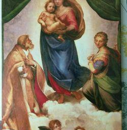 """Carte din seria """"Marii artiști"""" Raphael."""