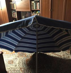 Umbrelă mare pentru plajă 1 m 80 cm diametru, înălțime 2 m