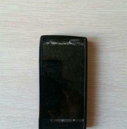 Телефон Sony Xperia P в рабочем состоянии(треснуло