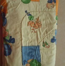 Одеяло и подушка шерстяное б/у