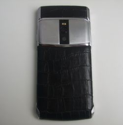 Vertu Signature Touch Jet Steel Alligator