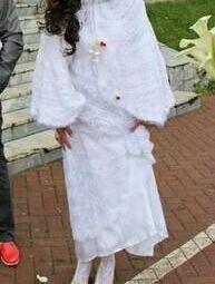 Cape wedding with a hood