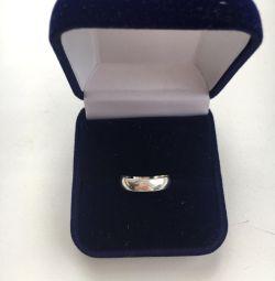 Кольцо серебряное 15,5 размер