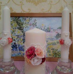 Свадебные аксессуары свечи в с. Ильинский Погост