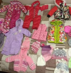 Outerwear for girls from 1.5 to 3-4 years