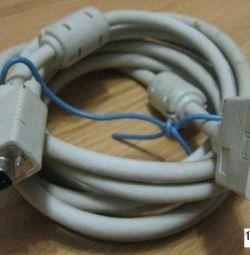 Cablu de cablu VGA de 3 metri în stare de funcționare