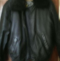 Шкіряна натуральна куртка