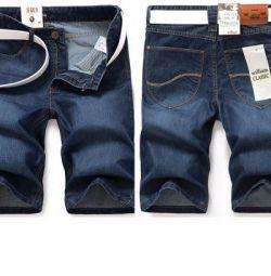 Шорты мужские из легкой тонкой джинсы