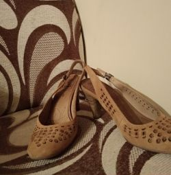 Natural suede sandals Capika