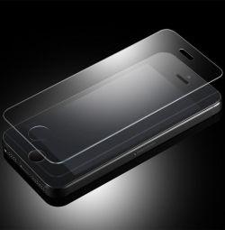 Бронированное стекло на Айфон 5, 5S, SE