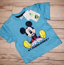 Bebek 6-9 ay için Disney T-shirt orijinal yeni