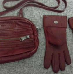Bag and gloves.