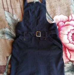School sundress with pockets.