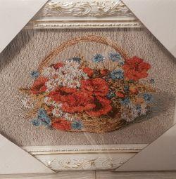 Картина  Гобелен Полевые цветы
