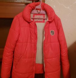 Demi-season jacket for a girl of 7-9 years
