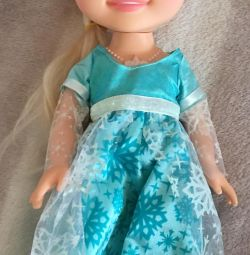 Anna doll from the cartoon Frozen