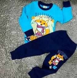 Pajamas on the boy