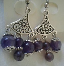 Earrings Sudarushka with amethyst