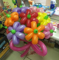 A bunch of balloons (7 flowers)
