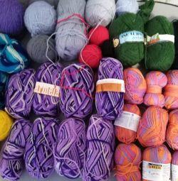 Пряжа для вязания разная