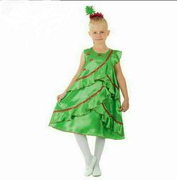 """Costum de carnaval """"Crăciun satin"""""""