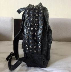 Spiked Leather Backpack