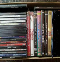 CDs, DVDs.