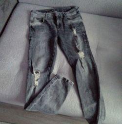Крутые серые джинсы 46 размер
