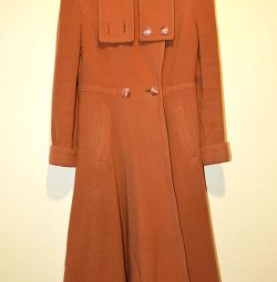 Light overcoat for women from drap, size 44-46