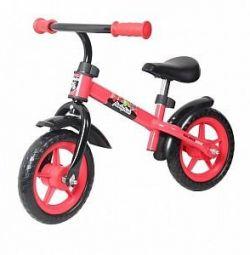 Детский беговел KidFun 10, красный
