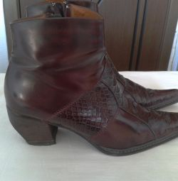 Ankle boots used leather autumn little boots 39