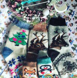 Носки новогодние. Носки на Новый год.