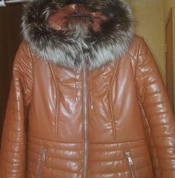 Jacheta. Natur. piele și blană.