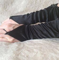 Рукавички чорні короткі