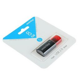 USB flash drive Smartbuy 8GB Click Black NEW
