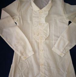 Bluză albă, școală