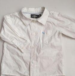 Рубашка на мальчика 74-80см