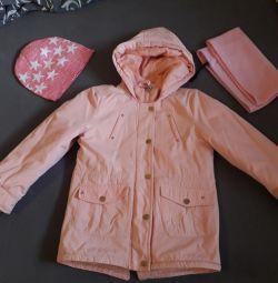 Jacket, hat, snood