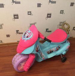 Електромобіль мотоцикл для дівчинки