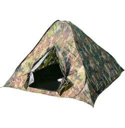 The tent self-folding 3-seater Khaki