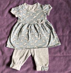 Платье с леггинсами 68 размер