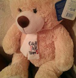 Игрушка мягкая Медведь Тишка - новая