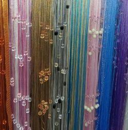 Нитяные веревочные шторы