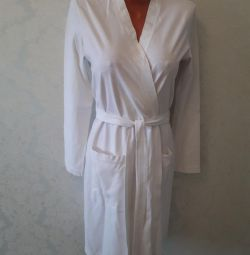 Women's cotton bathrobe 44