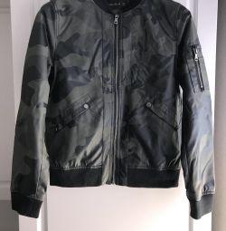 Jacket Bomber Military Camouflage Khaki