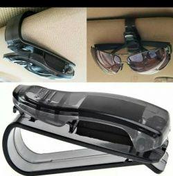 Suport auto pentru ochelari, documente pentru autoturisme.
